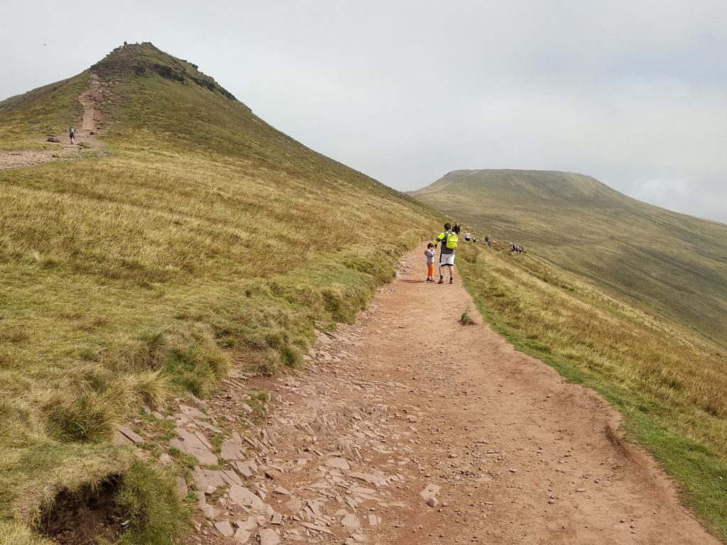 Llegando al Pen y Fan