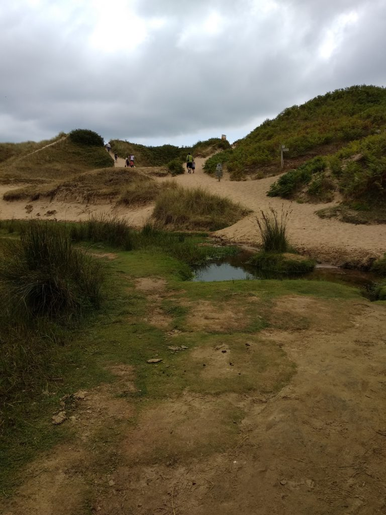 Acceso a Three Cliffs Bay